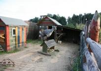 Jedna z wielu stałych atrakcji ogrodu Gościńca Oycowizna- MINI ZOO!