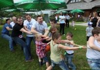 Catering Kinder Party oraz aktywności sportowe w ogrodzie Gościńca Oycowizna, 150 os.